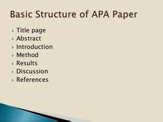 How to write and cite a research paper ape